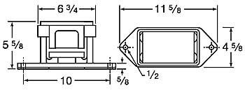 9400 vibrator dimensions