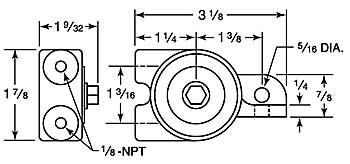 BD10A-BD10M vibrator dimensions