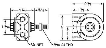 SUAH10 vibrator dimensions