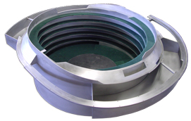 Stainless Steel Vibratory Bowl Lined with Brushlon