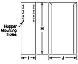 Adjustable hopper stands