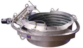 Custom tooled conveyor belt vibratory feeder bowl