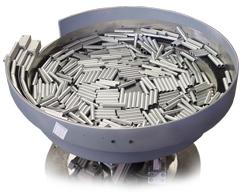 Custom tooled rubber lining vibratory feeder bowl
