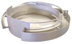 Custom tooled stainless steel feeder bowl