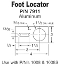 Vibratory feeder foot locator aluminum
