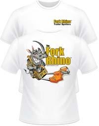 fork rhino tee shirt
