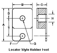Locator Style Rubber Foot