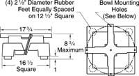 Model 18XL low profile base unit dimensions