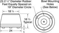 Model 25 base unit dimensions