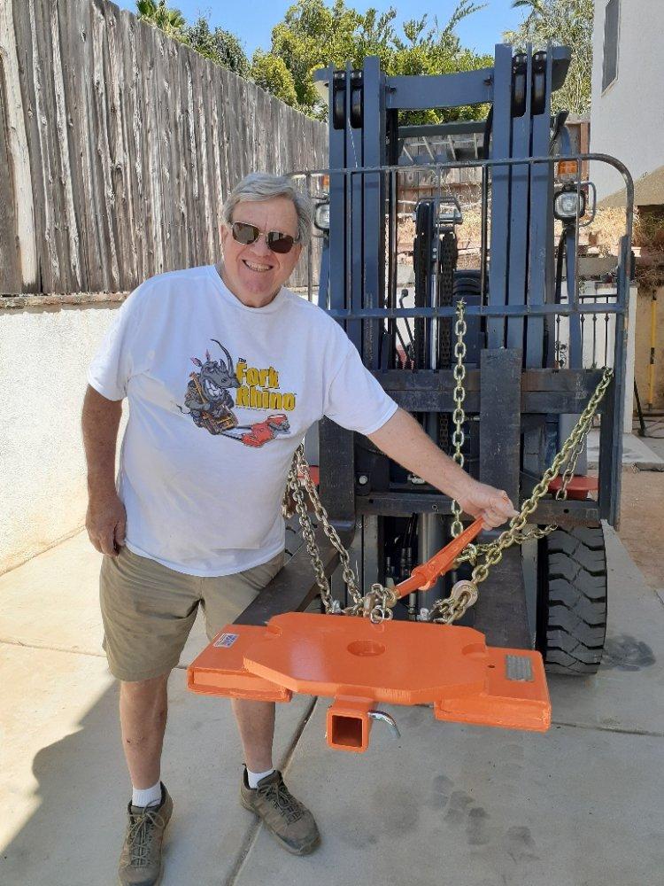 Customer with 5th Wheel Rhino