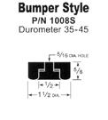 Bumper style rubber feet for vibratory feeder